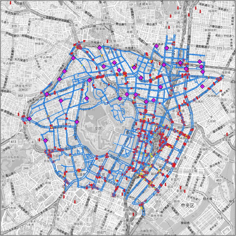 歩行空間ネットワークデータ