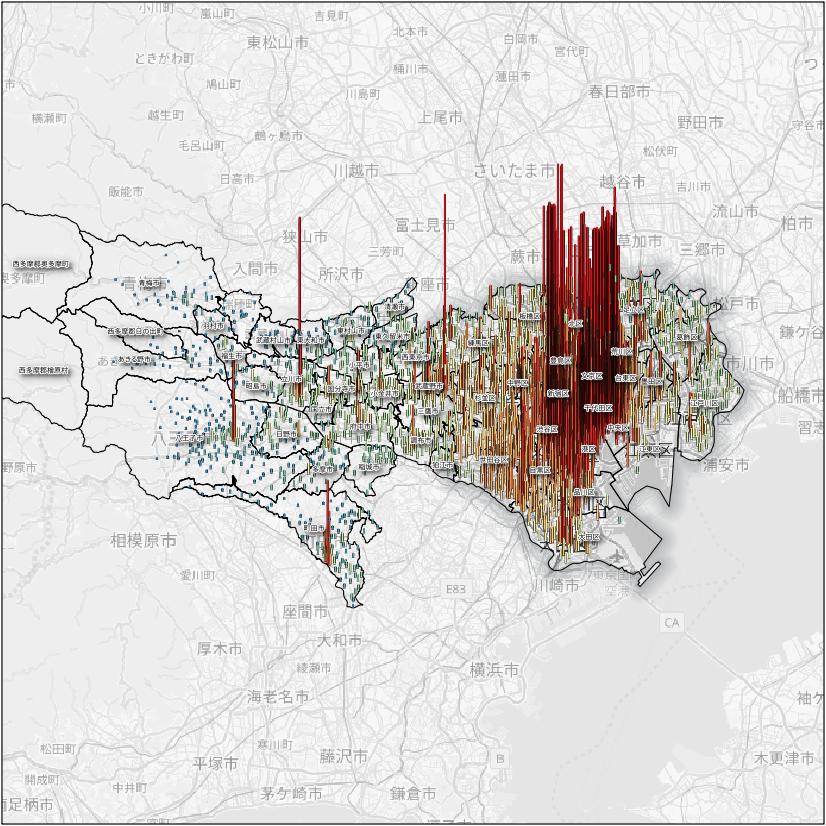 地価の公示価格のデータ
