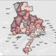 兵庫県の市区町ごとの持ち家の割合