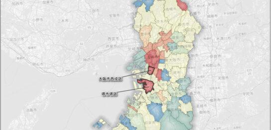 増減率(男性)西成区と堺区 min